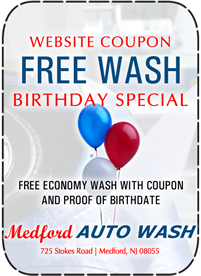 Car Wash Birthday Special